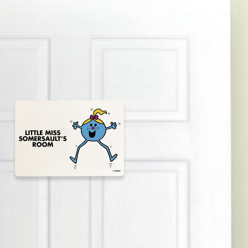 Little Miss Somersault Door Plaque (Lifestyle)