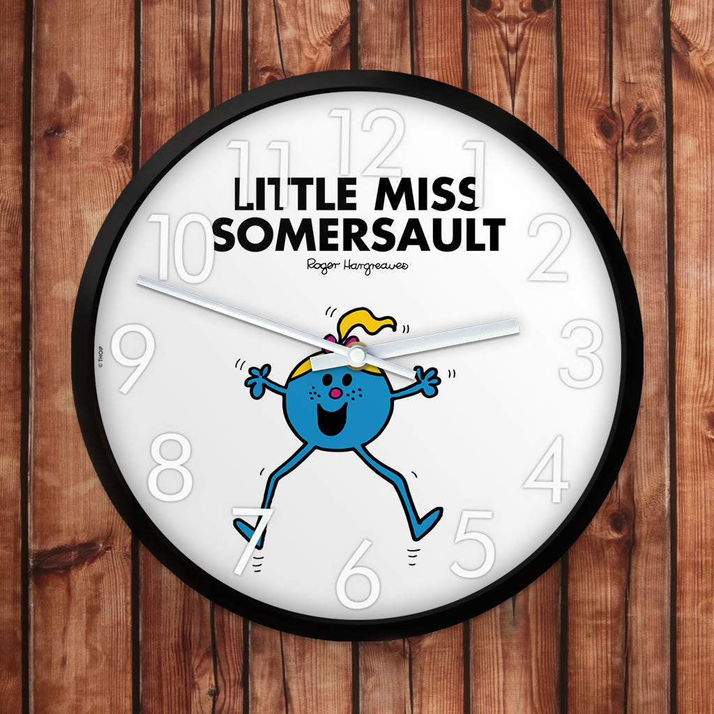 Little Miss Somersault Personalised Clock (Lifestyle)