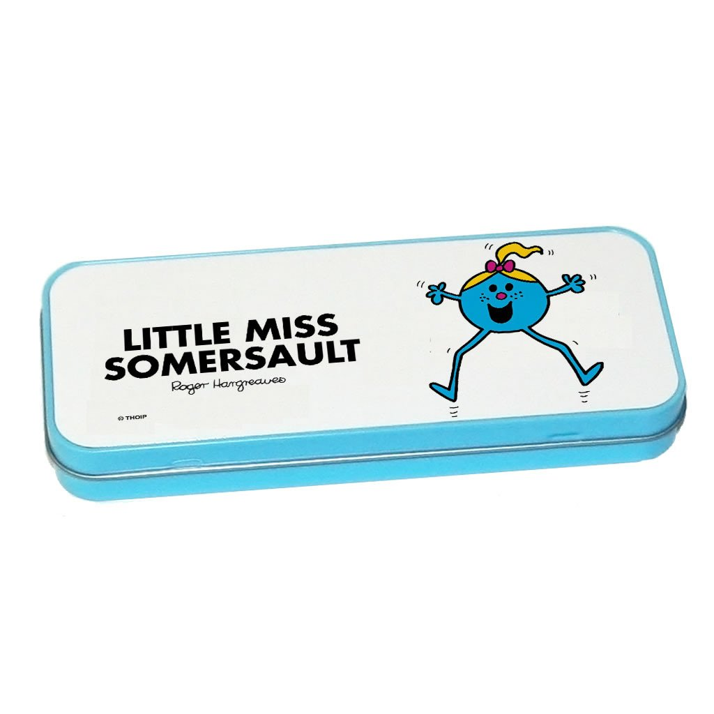 Little Miss Somersault Pencil Case Tin (Blue)