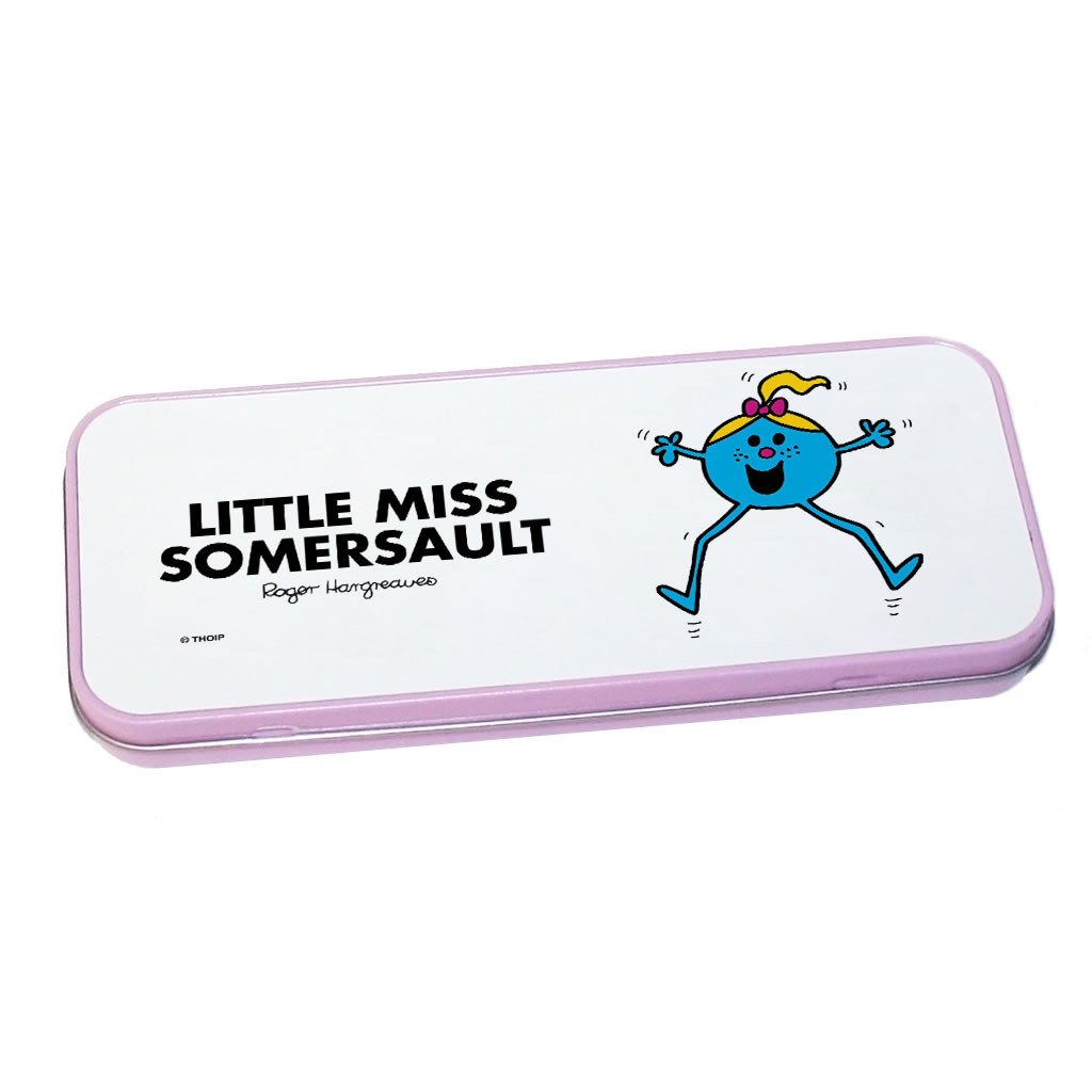 Little Miss Somersault Pencil Case Tin (Pink)