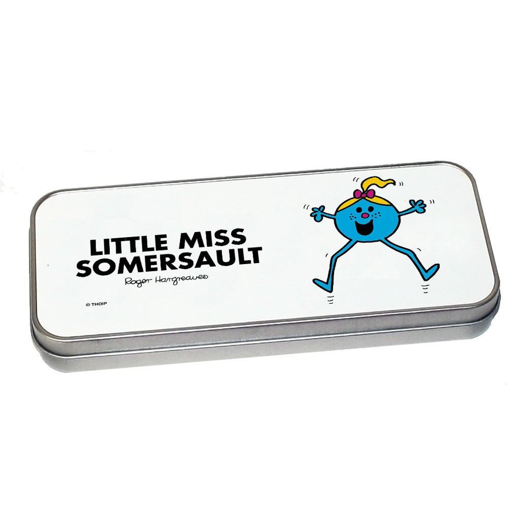 Little Miss Somersault Pencil Case Tin (Silver)