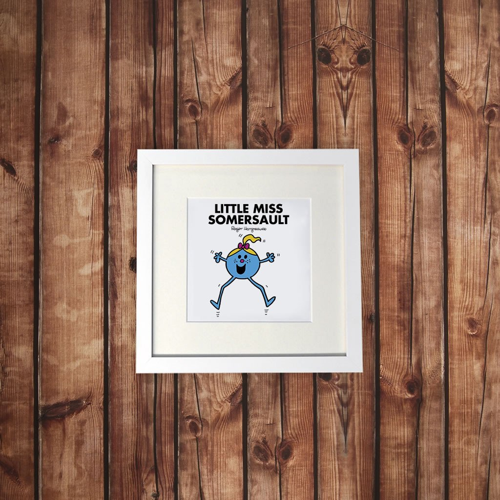 Little Miss Somersault White Framed Print (Lifestyle)
