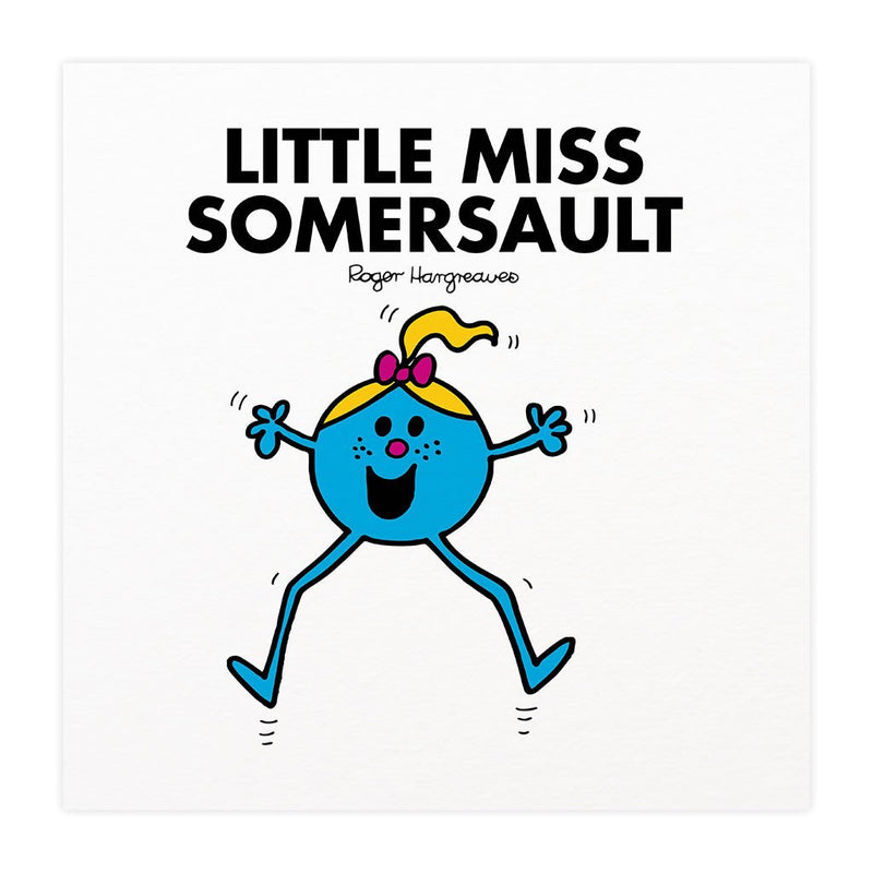 Little Miss Somersault Mounted Art Print