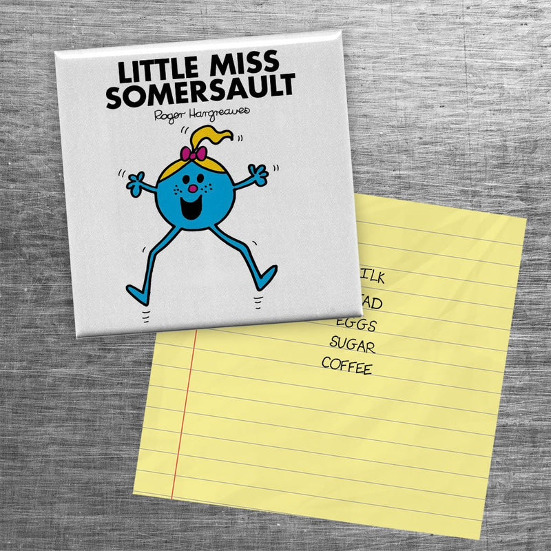 Little Miss Somersault Square Magnet (Lifestyle)