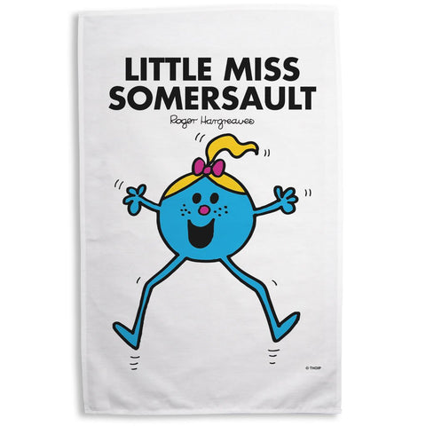 Little Miss Somersault Tea Towel