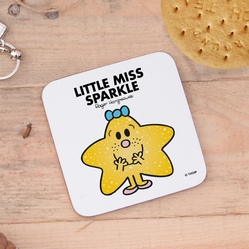 Little Miss Sparkle Cork Coaster (Lifestyle)