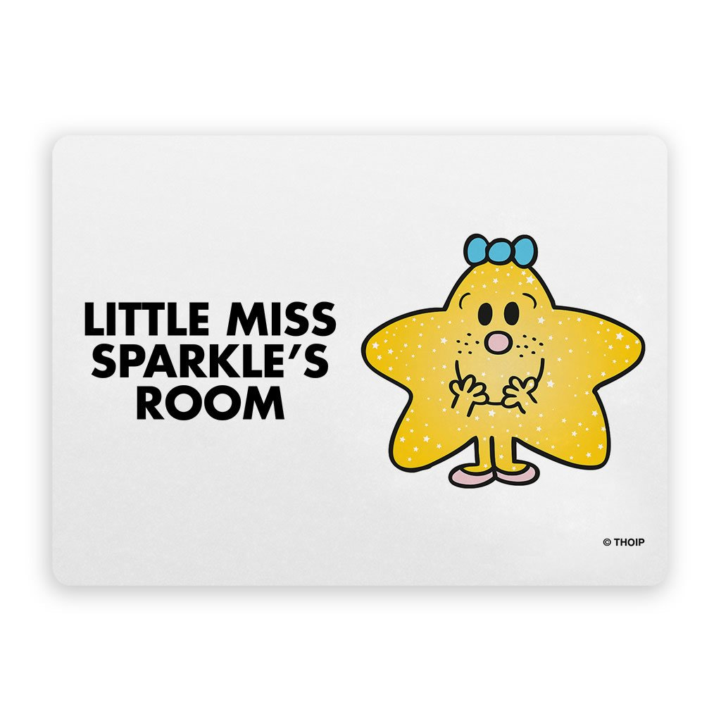 Little Miss Sparkle Door Plaque