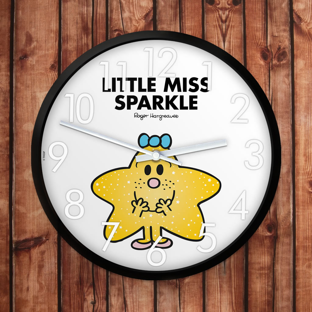 Little Miss Sparkle Personalised Clock (Lifestyle)