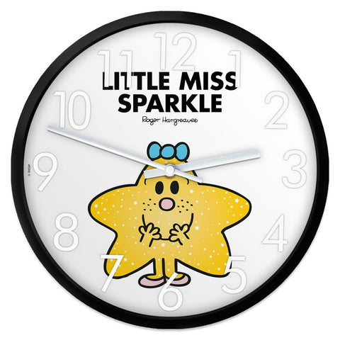 Little Miss Sparkle Personalised Clock