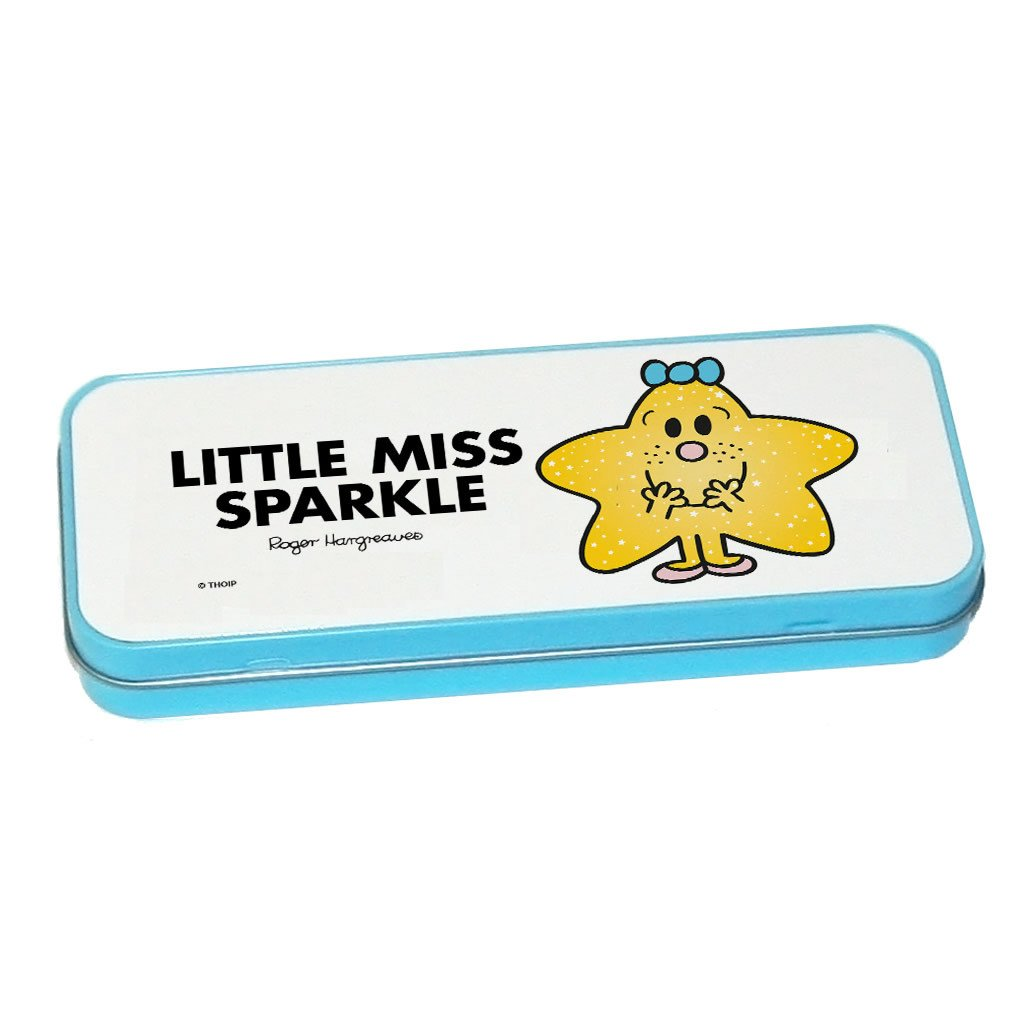 Little Miss Sparkle Pencil Case Tin (Blue)