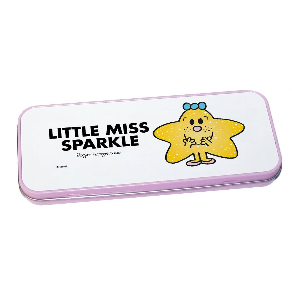 Little Miss Sparkle Pencil Case Tin (Pink)
