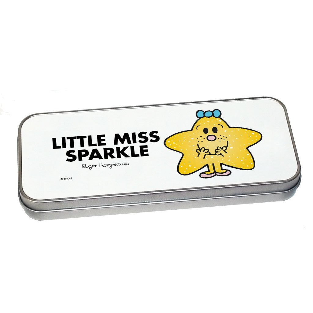 Little Miss Sparkle Pencil Case Tin (Silver)