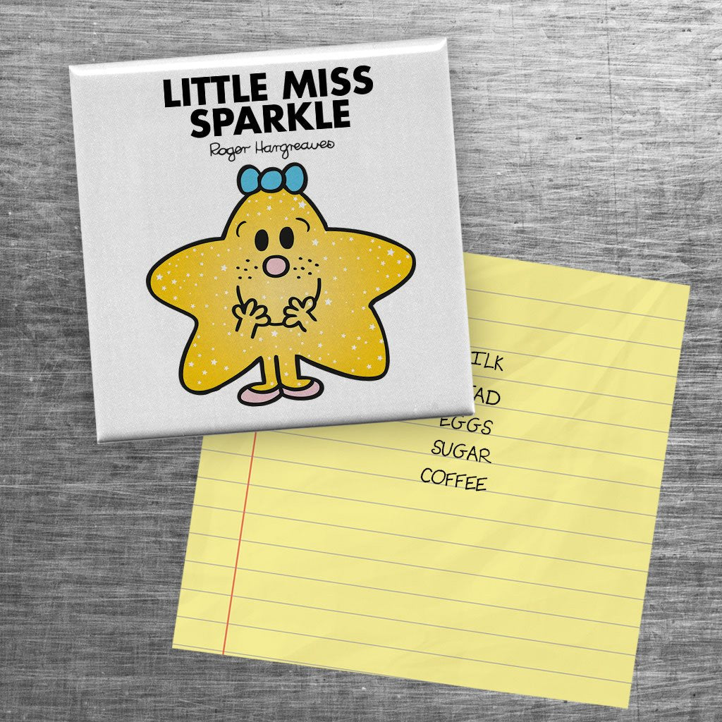 Little Miss Sparkle Square Magnet (Lifestyle)