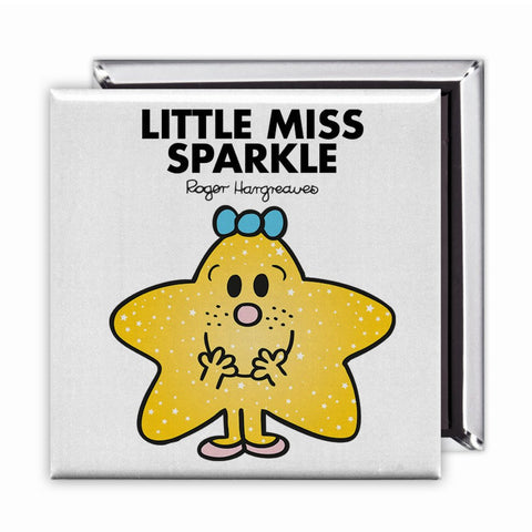 Little Miss Sparkle Square Magnet