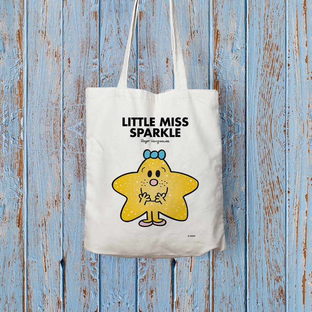 Little Miss Sparkle Long Handled Tote Bag (Lifestyle)