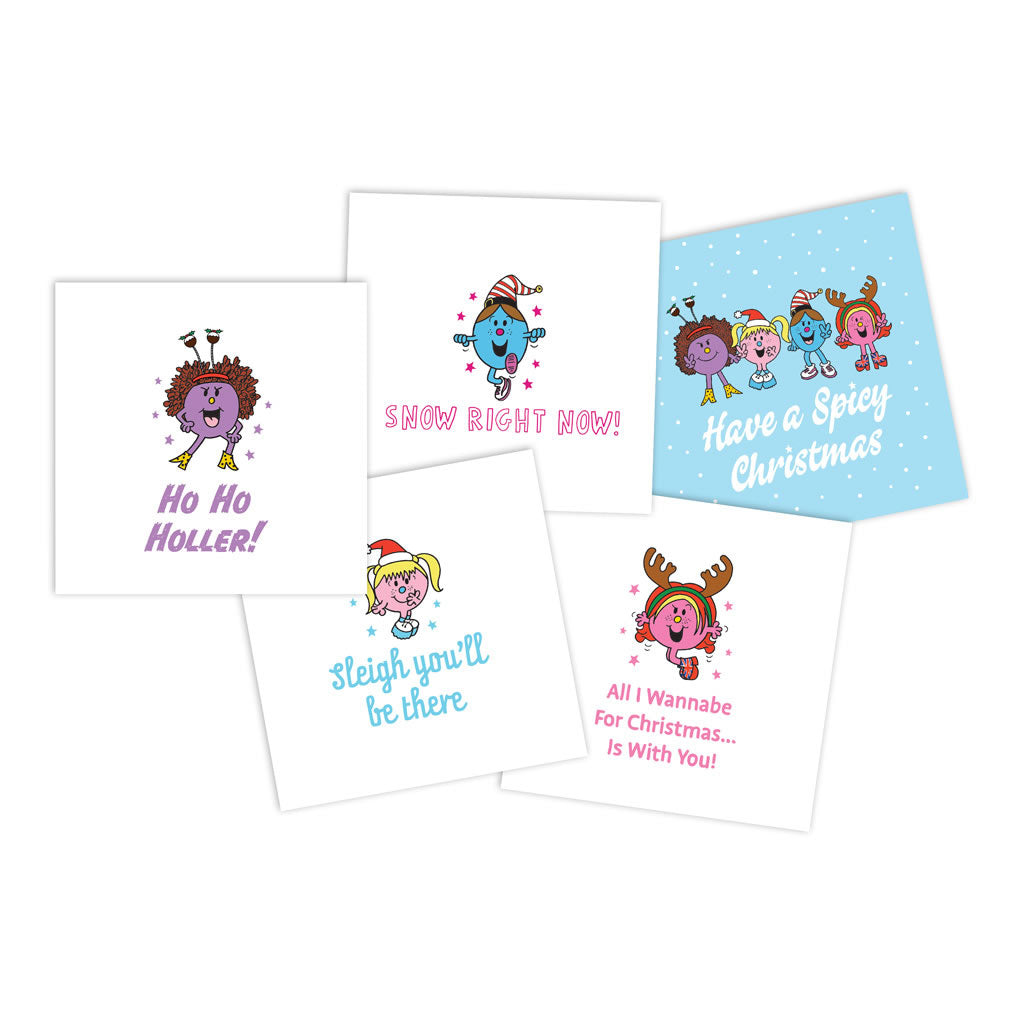 Set of Little Miss Spice Girls Christmas Cards