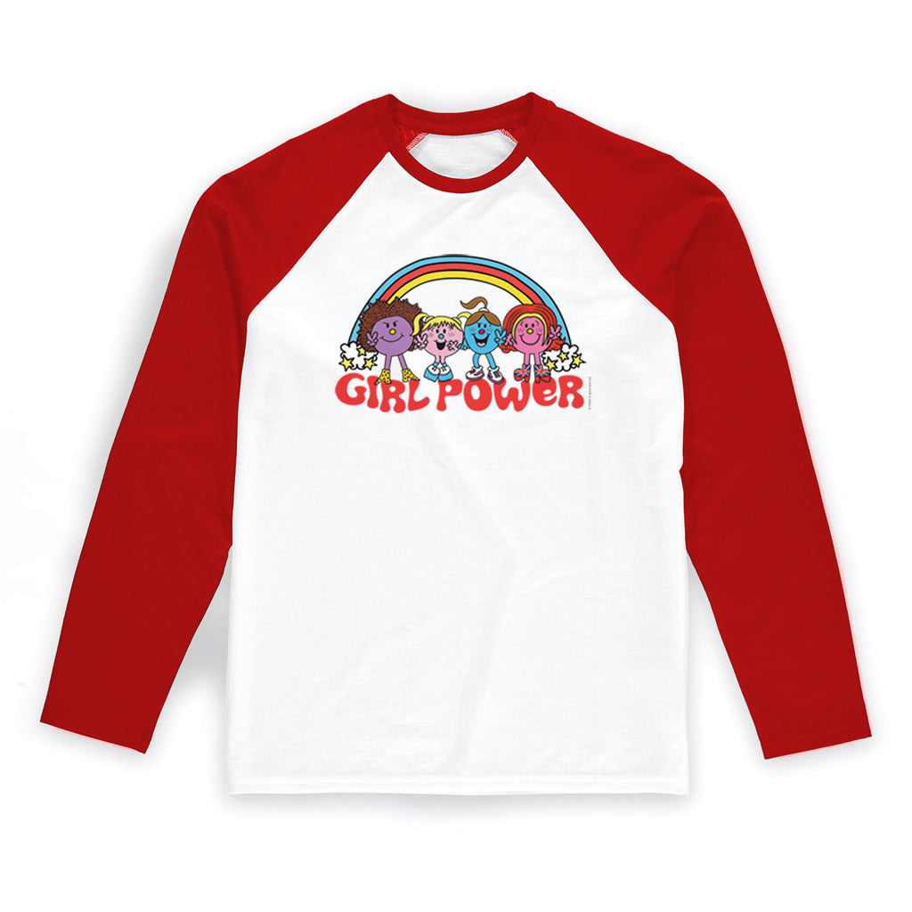 "Little Miss Spice Girls ""Girl Power"" Baseball T-Shirt"