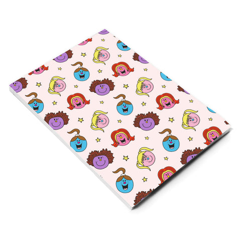 Little Miss Spice Girls repeat print notebook