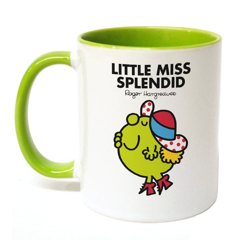 Little Miss Splendid Large Porcelain Colour Handle Mug