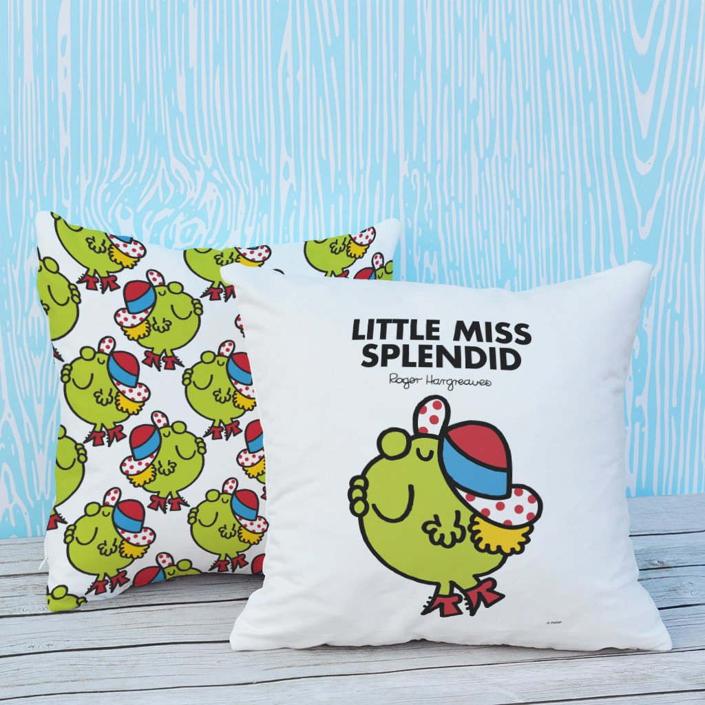 Little Miss Splendid Micro Fibre Cushion (Lifestyle)