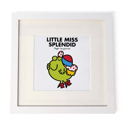 Little Miss Splendid White Framed Print