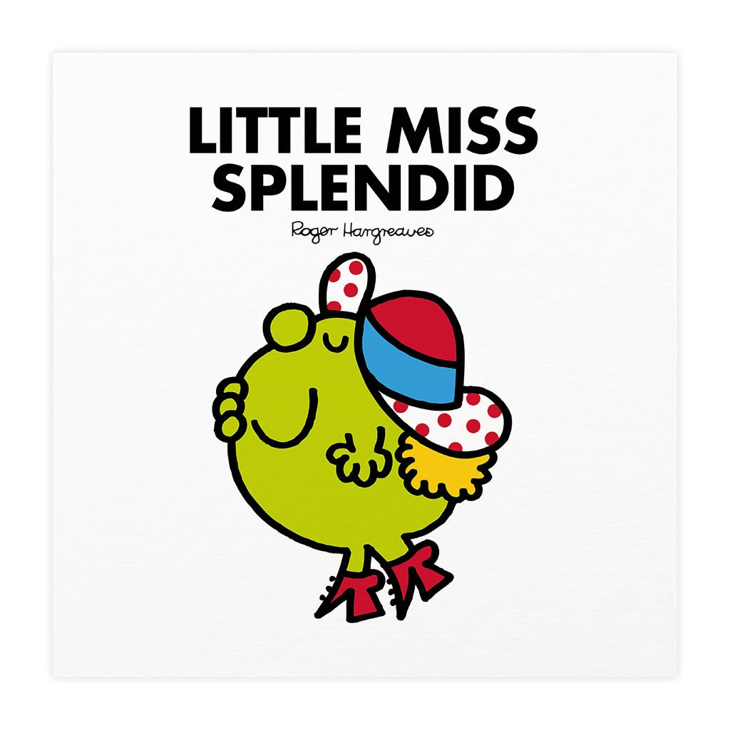 Little Miss Splendid Mounted Art Print