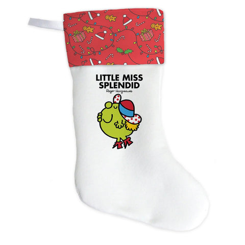 Little Miss Splendid Christmas Stocking (Front)