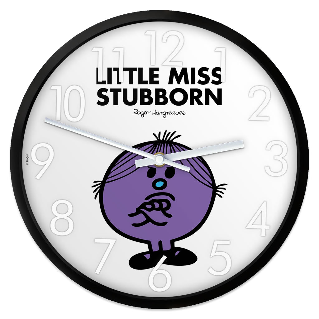 Little Miss Stubborn Personalised Clock