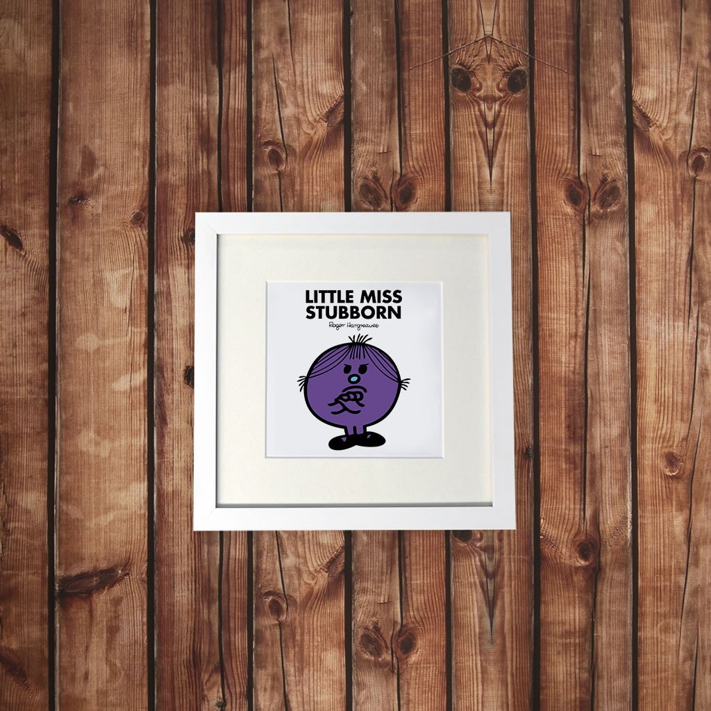 Little Miss Stubborn White Framed Print (Lifestyle)