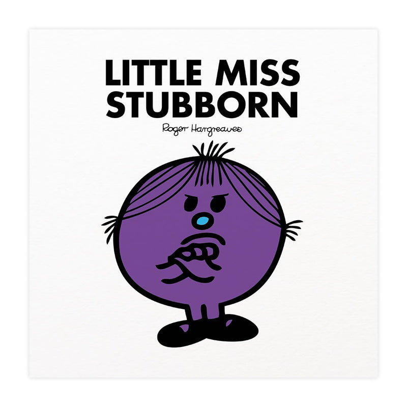 Little Miss Stubborn Mounted Art Print