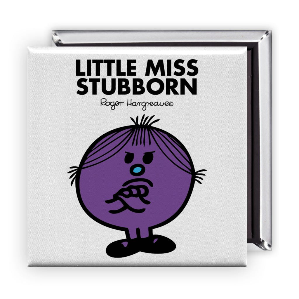 Little Miss Stubborn Square Magnet
