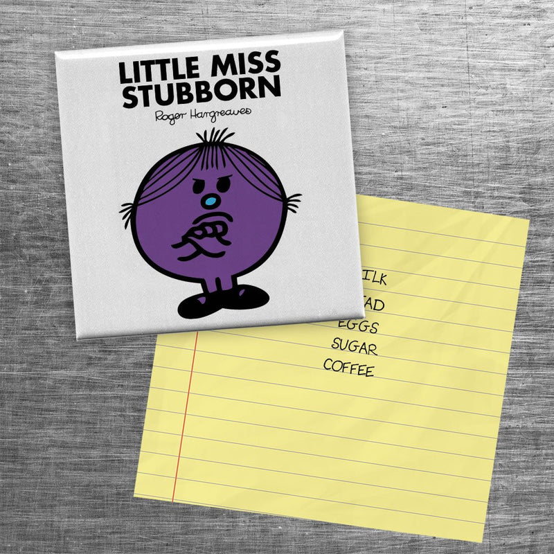 Little Miss Stubborn Square Magnet (Lifestyle)