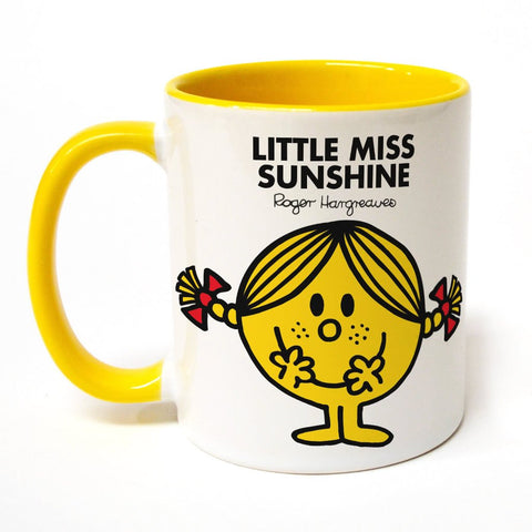 Little Miss Sunshine Large Porcelain Colour Handle Mug