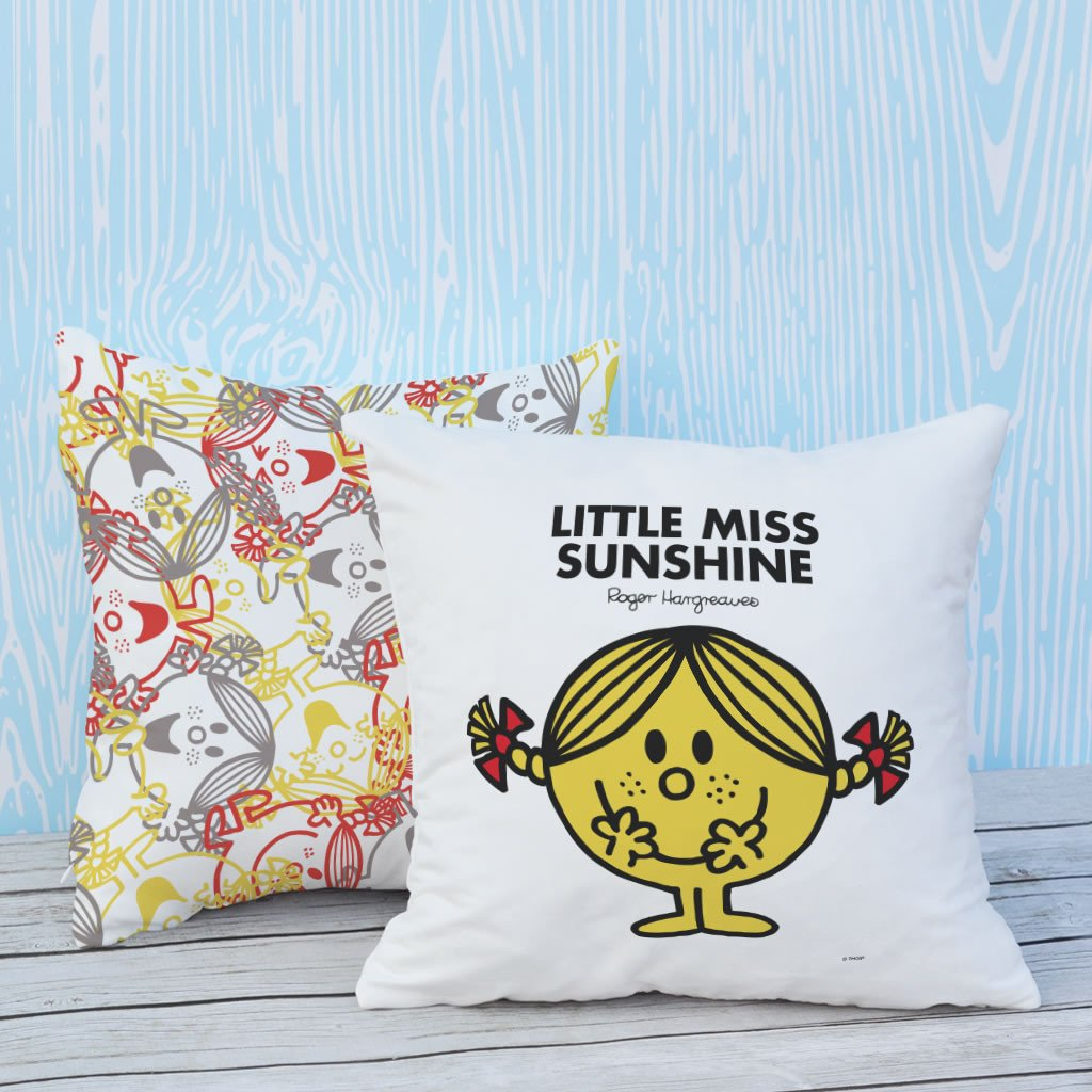 Little Miss Sunshine Micro Fibre Cushion (Lifestyle)