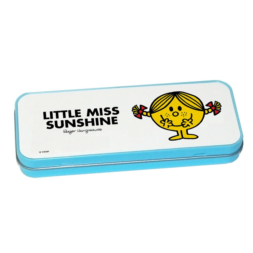 Little Miss Sunshine Pencil Case Tin (Blue)
