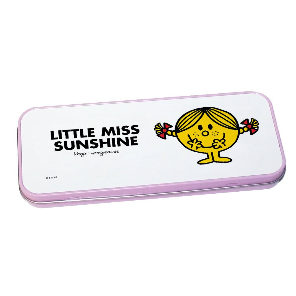 Little Miss Sunshine Pencil Case Tin (Pink)