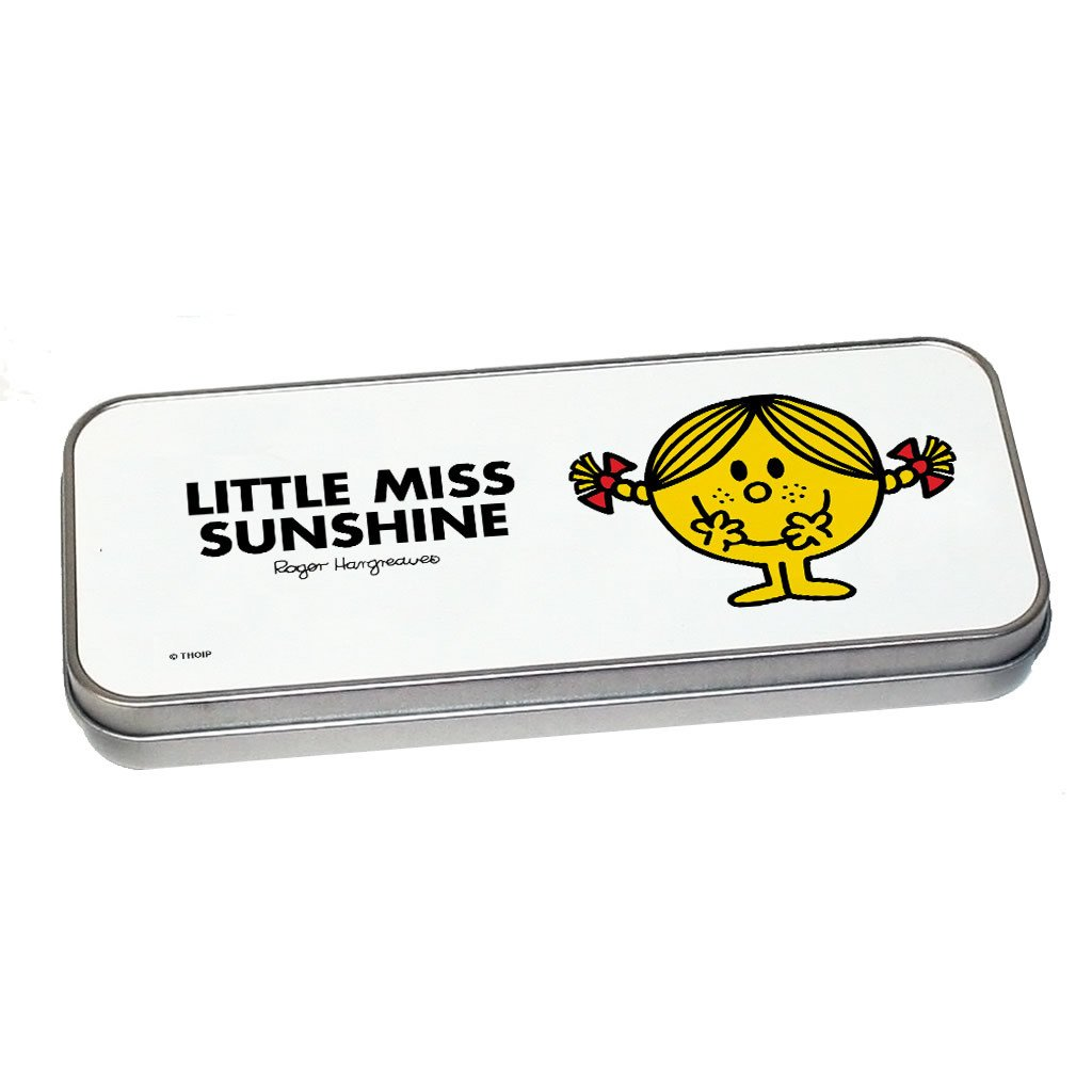 Little Miss Sunshine Pencil Case Tin (Silver)