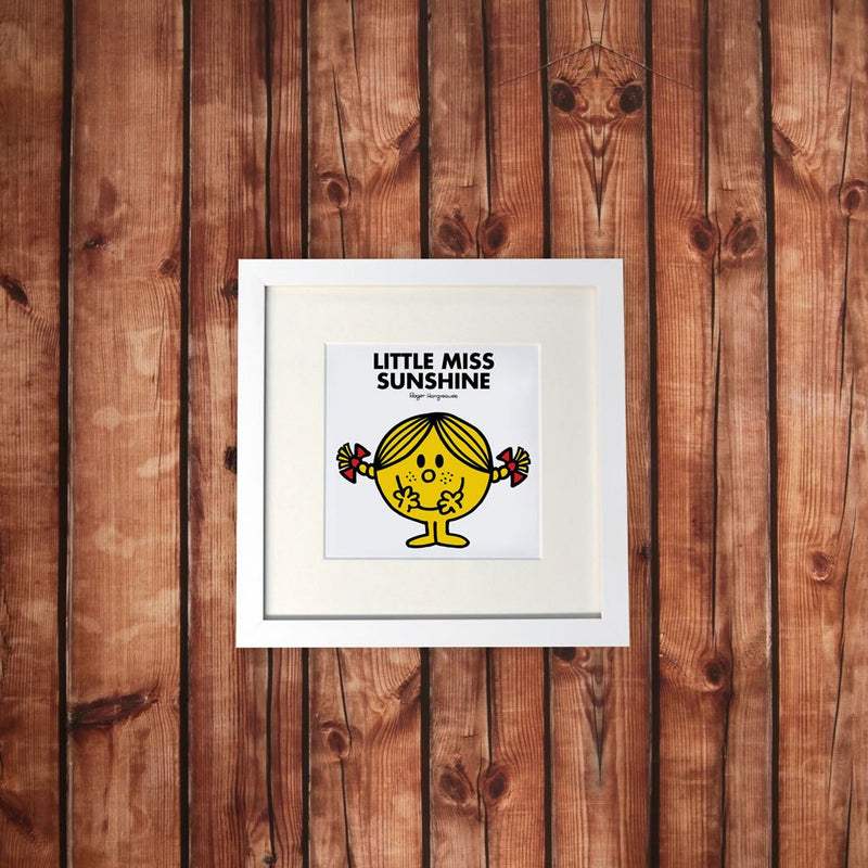 Little Miss Sunshine White Framed Print (Lifestyle)