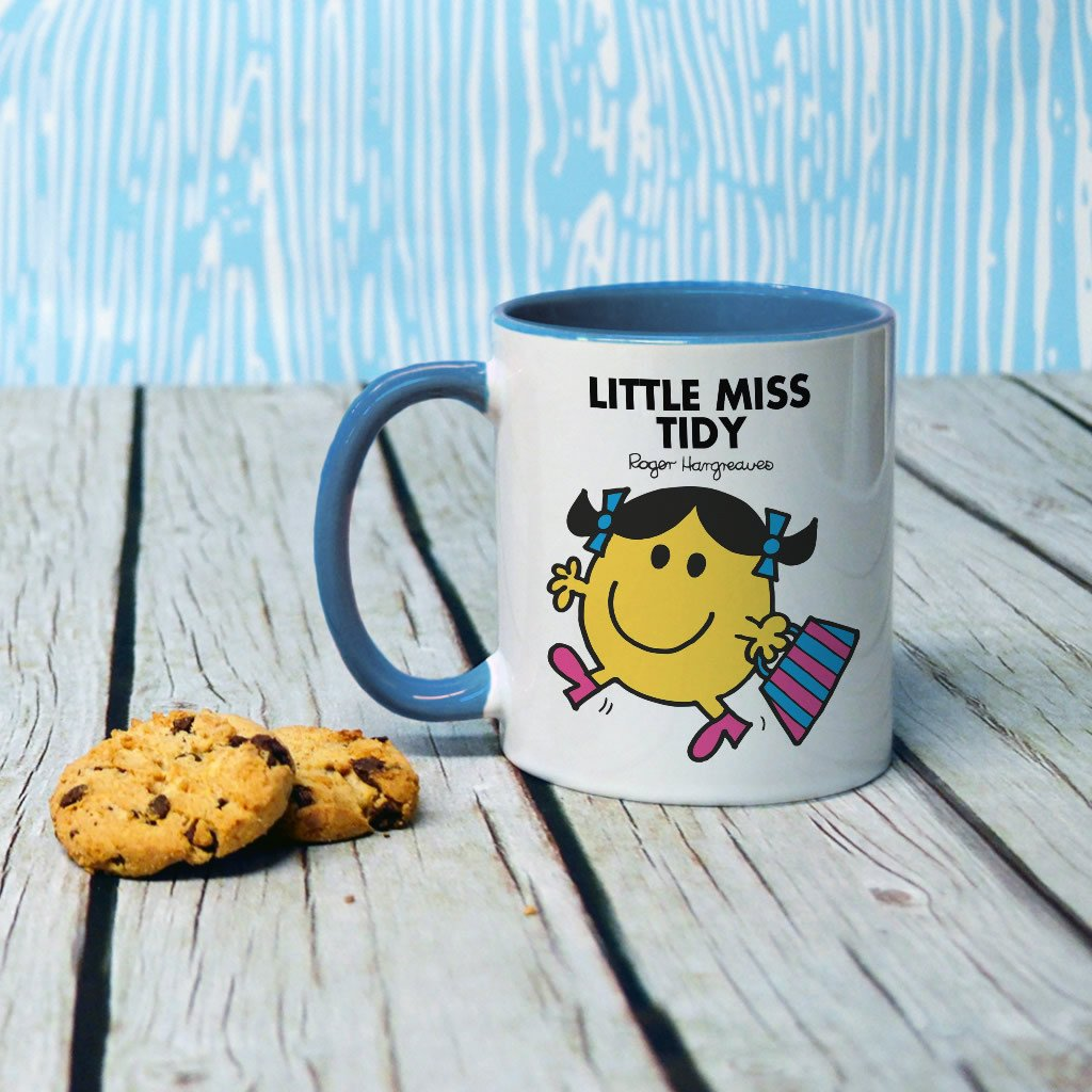 Little Miss Tidy Large Porcelain Colour Handle Mug (Lifestyle)