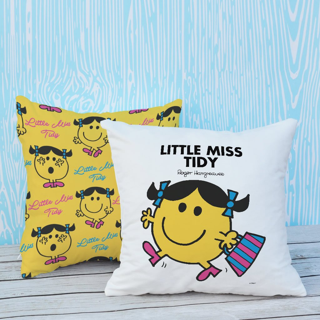 Little Miss Tidy Micro Fibre Cushion (Lifestyle)