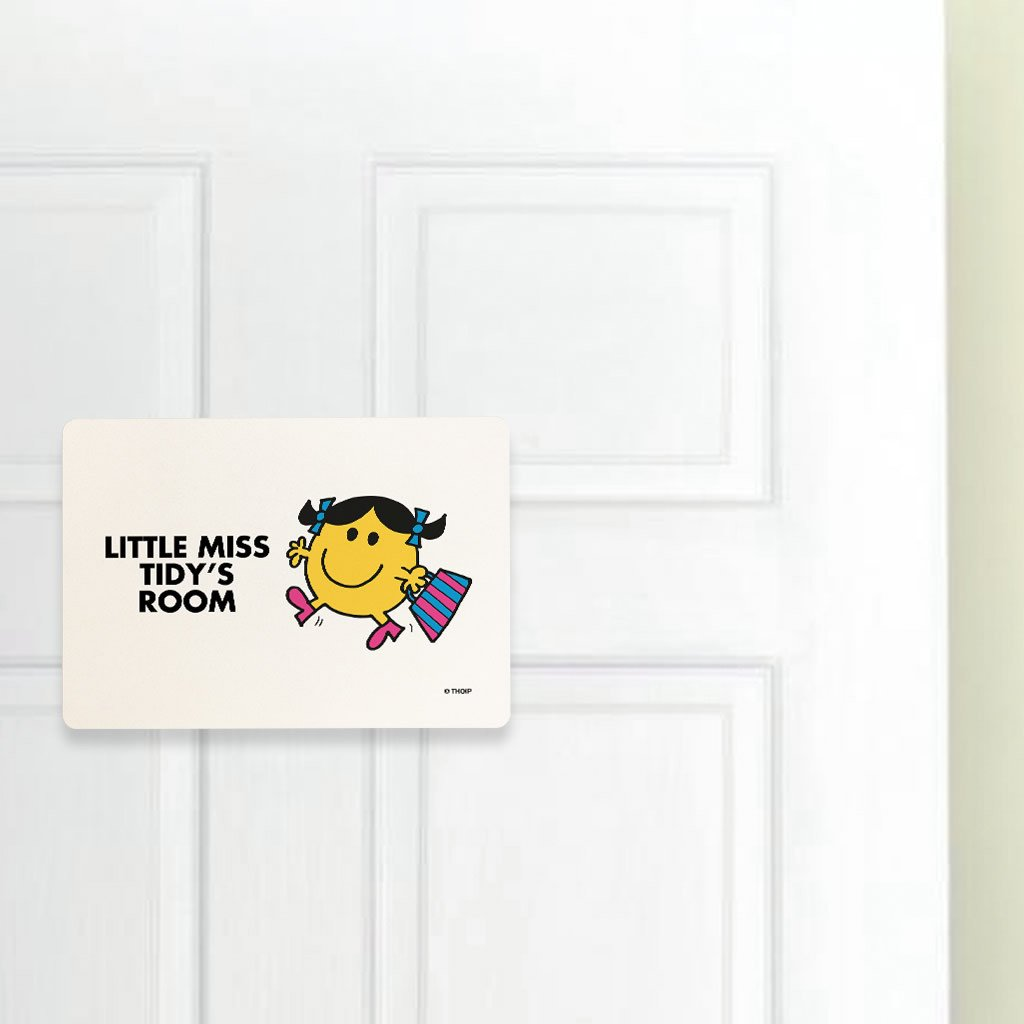 Little Miss Tidy Door Plaque (Lifestyle)