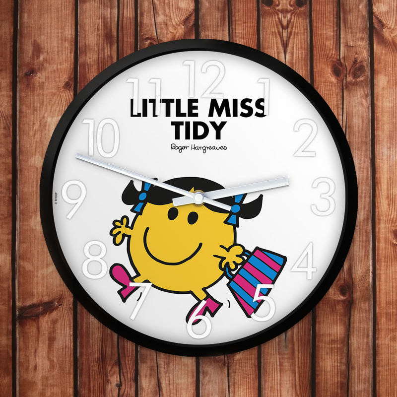 Little Miss Tidy Personalised Clock (Lifestyle)