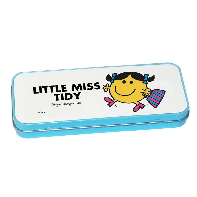Little Miss Tidy Pencil Case Tin (Blue)