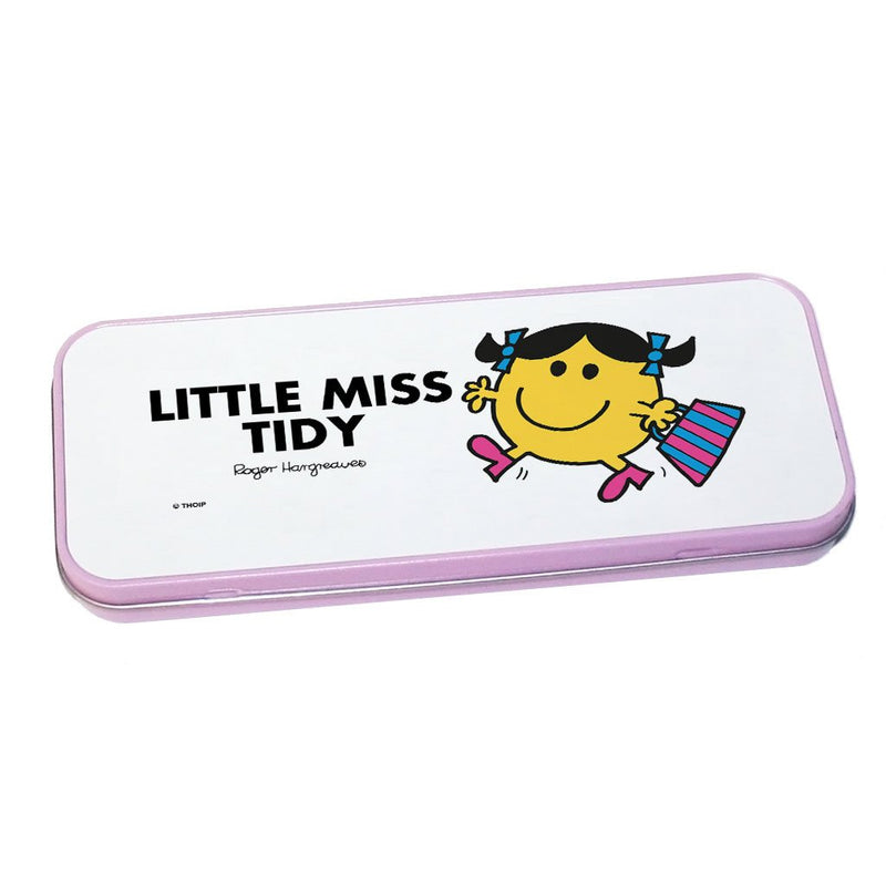 Little Miss Tidy Pencil Case Tin (Pink)