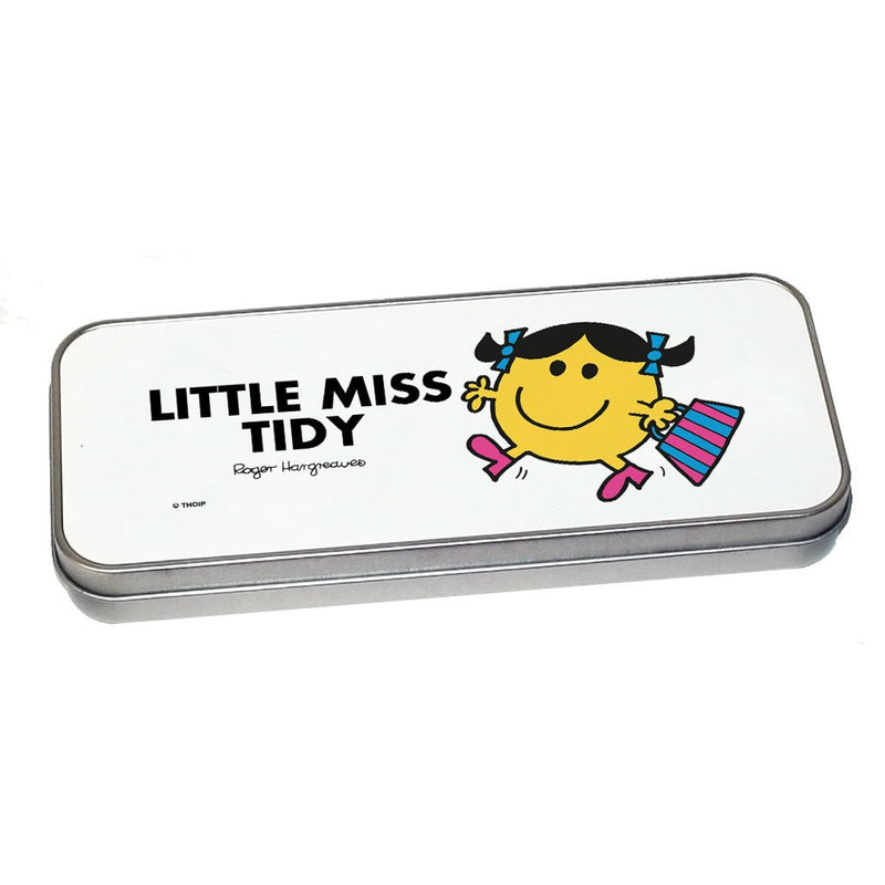 Little Miss Tidy Pencil Case Tin (Silver)