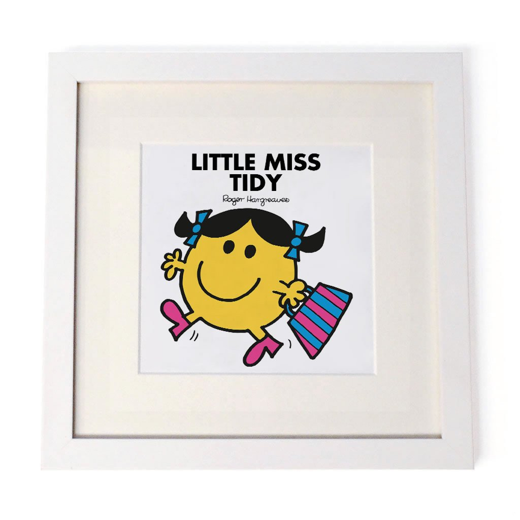 Little Miss Tidy White Framed Print