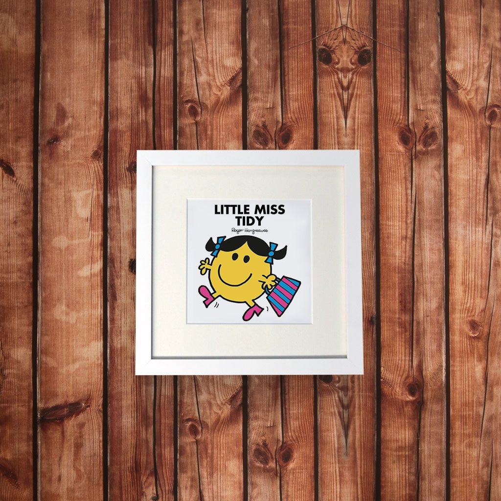 Little Miss Tidy White Framed Print (Lifestyle)