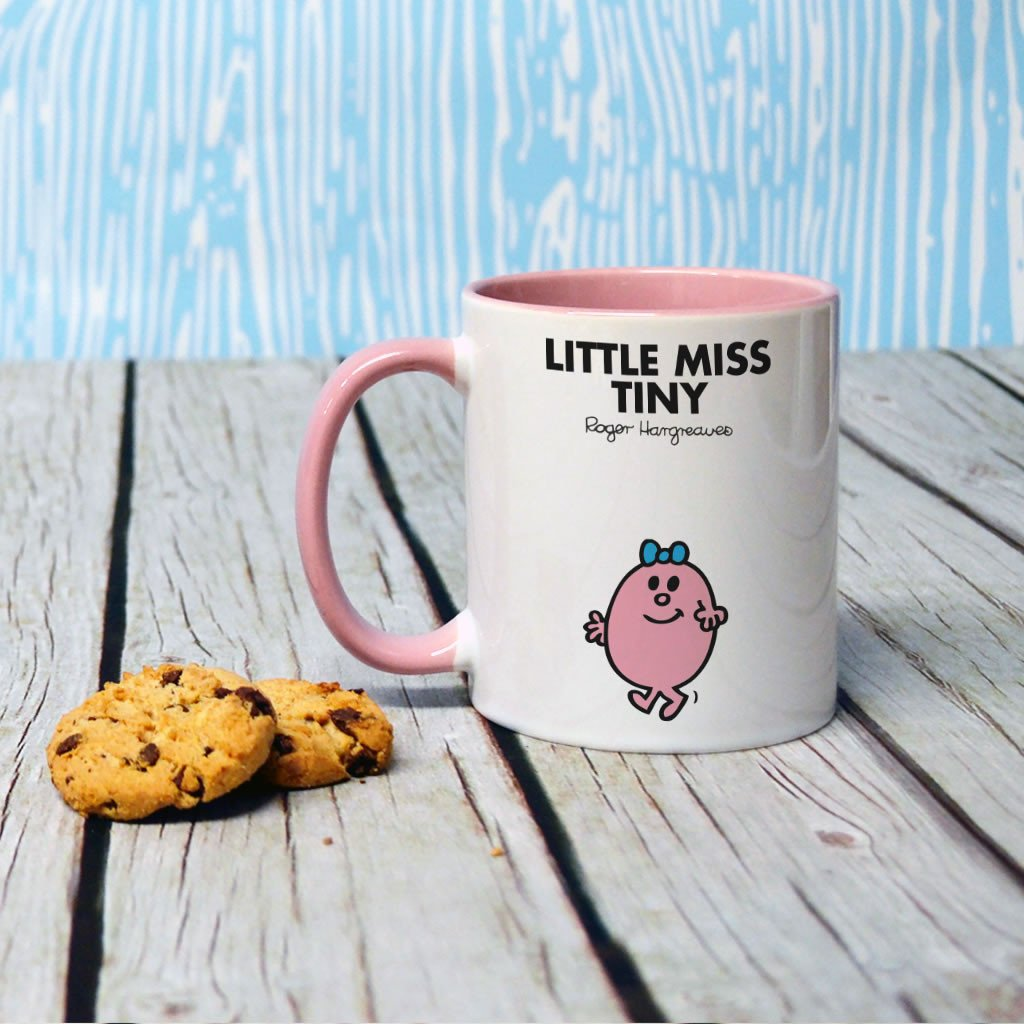 Little Miss Tiny Large Porcelain Colour Handle Mug (Lifestyle)