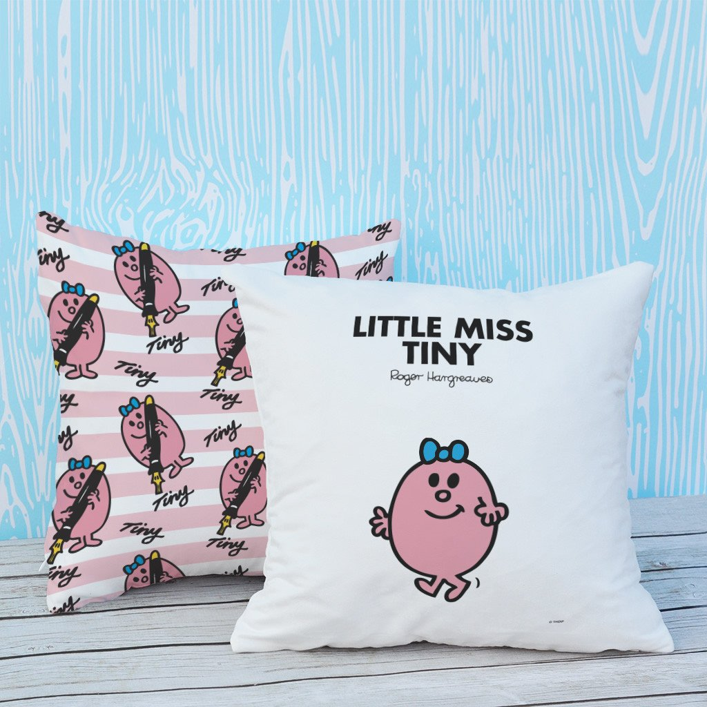 Little Miss Tiny Micro Fibre Cushion (Lifestyle)