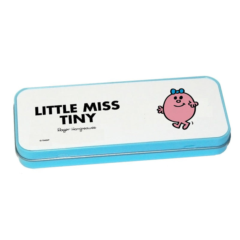 Little Miss Tiny Pencil Case Tin (Blue)